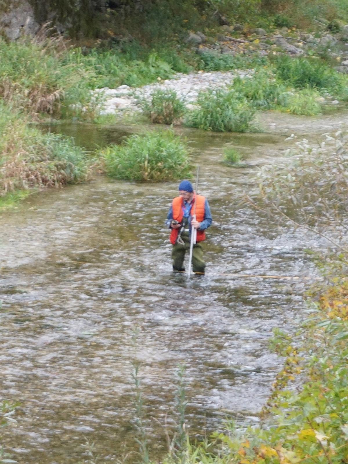 Messung-Restwasserstrecke
